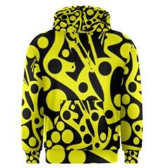 Black And Yellow Abstract Desing Men s Pullover Hoodie by Valentinaart