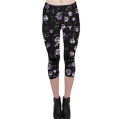 Purple Soul Capri Leggings  by Valentinaart