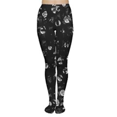 Black And Gray Soul Women s Tights by Valentinaart