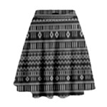 Black and White Modern Mudcloth  High Waist Skirt