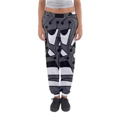 Playful Abstract Art   Gray Women s Jogger Sweatpants by Valentinaart