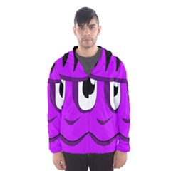 Halloween   Purple Frankenstein Hooded Wind Breaker (men) by Valentinaart