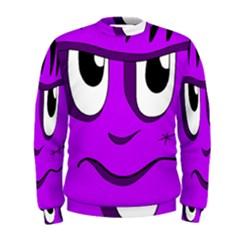 Halloween   Purple Frankenstein Men s Sweatshirt by Valentinaart