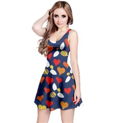 Honey Bees In Love Reversible Sleeveless Dress by BubbSnugg
