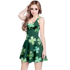Lucky Shamrocks Reversible Sleeveless Dress by BubbSnugg