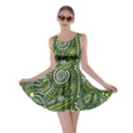 Green Boho Flower Pattern Zz0105  Skater Dress