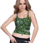 Green Boho Flower Pattern Zz0105  Spaghetti Strap Bra Top