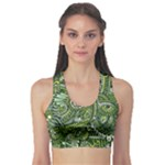Green Boho Flower Pattern Zz0105  Sports Bra