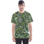 Green Boho Flower Pattern Zz0105  Men s Sport Mesh Tee
