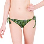 Green Boho Flower Pattern Zz0105  Bikini Bottom