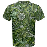 Green Boho Flower Pattern Zz0105  Men s Cotton Tee