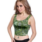 Green Boho Flower Pattern Zz0105  Crop Top