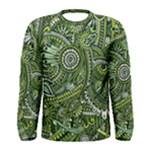 Green Boho Flower Pattern Zz0105  Men s Long Sleeve Tee