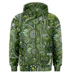 Green Boho Flower Pattern Zz0105  Men s Zipper Hoodie
