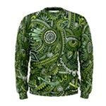 Green Boho Flower Pattern Zz0105  Men s Sweatshirt