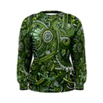 Green Boho Flower Pattern Zz0105  Women s Sweatshirt