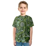 Green Boho Flower Pattern Zz0105  Kid s Sport Mesh Tee