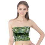 Green Boho Flower Pattern Zz0105  Tube Top