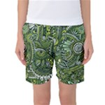 Green Boho Flower Pattern Zz0105  Women s Basketball Shorts