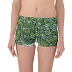 Green Boho Flower Pattern Zz0105  Boyleg Bikini Bottoms