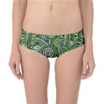 Green Boho Flower Pattern Zz0105  Classic Bikini Bottoms