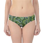 Green Boho Flower Pattern Zz0105  Hipster Bikini Bottoms