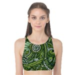 Green Boho Flower Pattern Zz0105  Tank Bikini Top