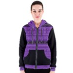 Purple Modern Mudcloth Women s Zipper Hoodie