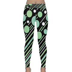 Green Transformaton Yoga Leggings  by Valentinaart