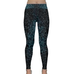 Polygonal And Triangles In Blue Colors  Yoga Leggings  by vanessagf