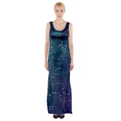 Constellations Maxi Thigh Split Dress by DanaeStudio