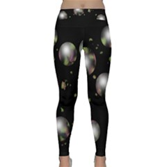 Silver Balls Yoga Leggings  by Valentinaart