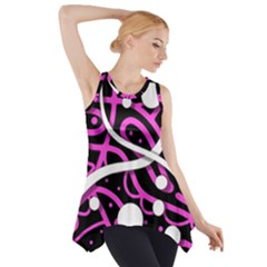 Purple Harmony Side Drop Tank Tunic by Valentinaart