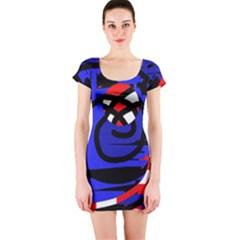 Follow Me Short Sleeve Bodycon Dress by Valentinaart