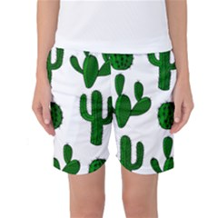 Cactuses Pattern Women s Basketball Shorts by Valentinaart