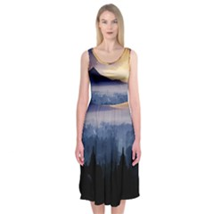 Borobudur Temple Midi Sleeveless Dress