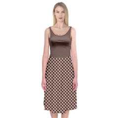 Modern Geometry Midi Sleeveless Dress by Contest2508689