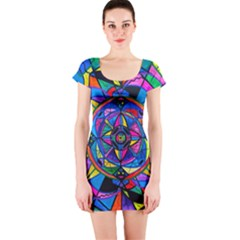 Activating Potential   Short Sleeve Bodycon Dress by tealswan