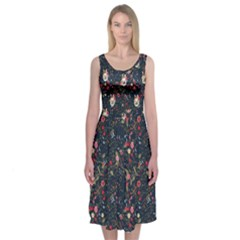 Floral Midi Sleeveless Dress by Contest2278331