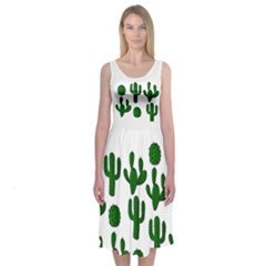 Cactuses Midi Sleeveless Dress by Contest2491068