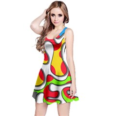 Colorful Graffiti Reversible Sleeveless Dress by Valentinaart