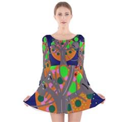 Daydream Long Sleeve Velvet Skater Dress by Valentinaart