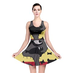 Angry Little Dog Reversible Skater Dress by Valentinaart