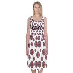 Shimmering Polkadots Midi Sleeveless Dress by Contest2081234