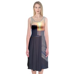 Bye Bye Summer Midi Sleeveless Dress by Contest2474074