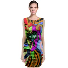 Colorful Goat Classic Sleeveless Midi Dress by Valentinaart