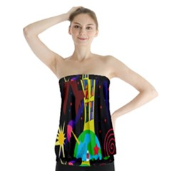 Colorful Universe Strapless Top by Valentinaart