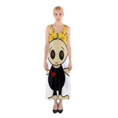 Cute Doll Girl Sleeveless Maxi Dress by Valentinaart