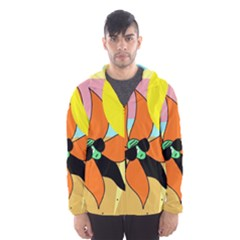 Sunflower On Sunbathing Hooded Wind Breaker (men)