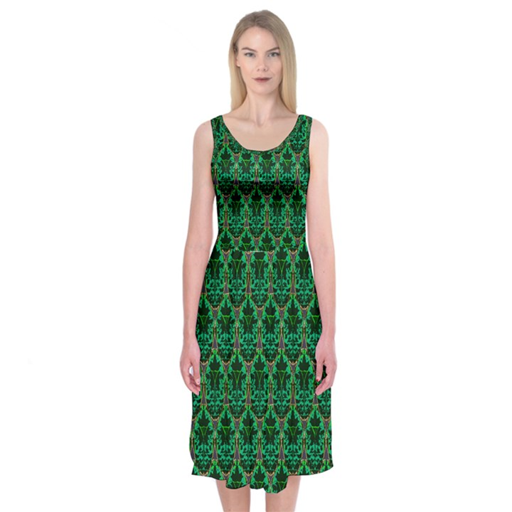 Jewel of the Morning Midi Sleeveless Dress